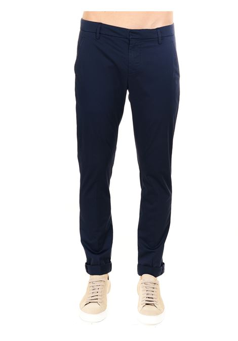 PANTALONE GAUBERT BLU IN GABARDINA STRETCH DONDUP | Pantaloni | UP235RSE036PTDDUS21890