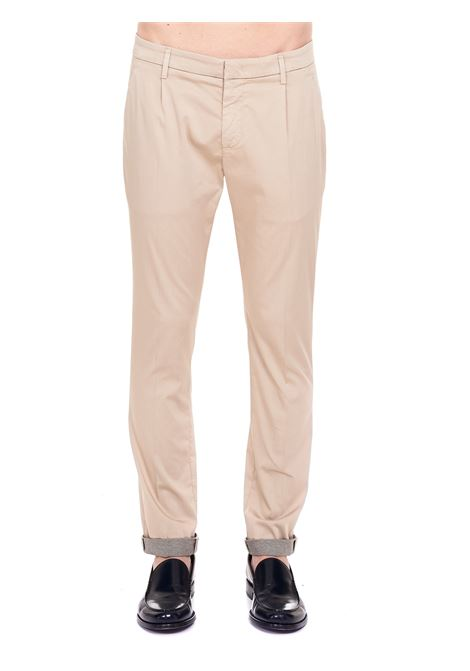 PANTALONI BEIGE  IN COTONE MODELLO GAUBERT PINCES DONDUP | Pantaloni | UP517CS0083PTDDUS21019