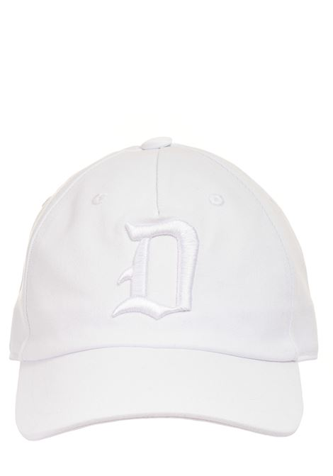 WHITE HAT WITH FRONT LOGO INLAY DONDUP |  | UQ077Y00402XXXDUS21000