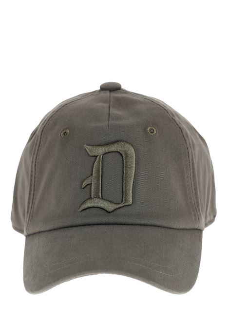 GREEN MILITARY HAT WITH FRONT LOGO INLAY DONDUP |  | UQ077Y00402XXXDUS21672