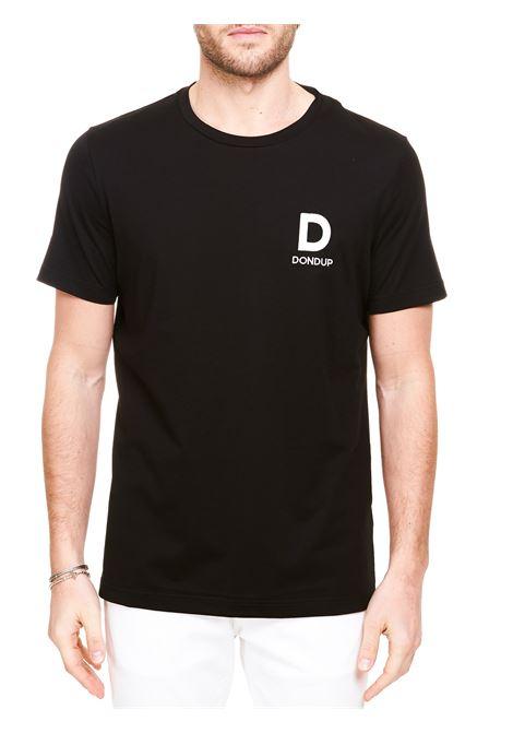 T-SHIRT NERA IN COTONE CON RICAMO LOGO DONDUP | T-shirt | US198JF0271UBH9DUS21999