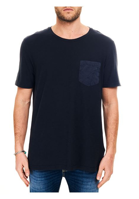 T-SHIRT BLU CON TASCA FRONTALE DONDUP | T-shirt | US301JF0195UPTDDUS21890