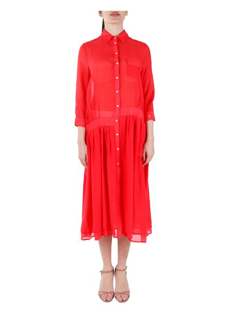 LONG CHEMISIER IN COTTON BLEND DOU DOU |  | RUBYDD09ROSSO