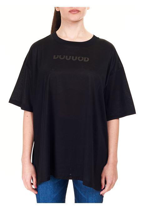 BLACK COTTON T-SHIRT WITH FRONT LOGO DOU DOU |  | SIGARODD01BLACK
