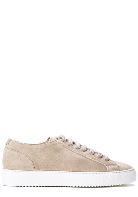 BEIGE SNEAKERS IN SUEDE LEATHER DUCA DI WELLS | Sneakers | NU2457ERICUZ106IC36WASH GALET+F.DO BIANCO