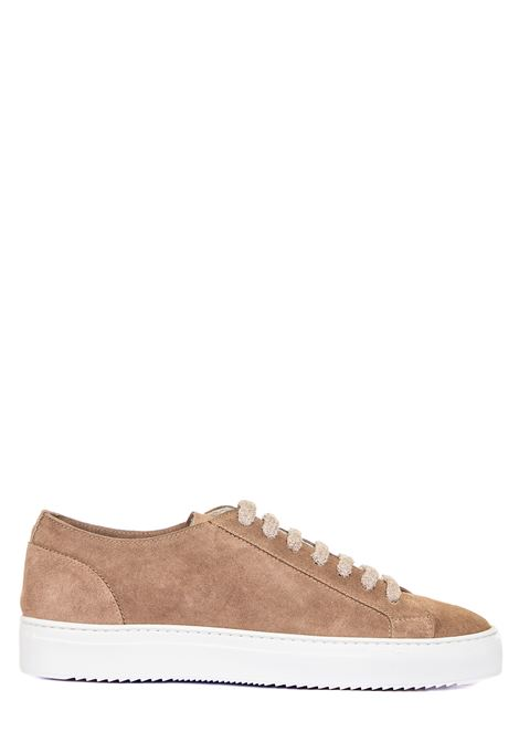 TAUPE SNEAKERS IN SUEDE LEATHER DUCA DI WELLS | Sneakers | NU2457ERICUZ106IM05WASH TAUPE+F.DO BIANCO