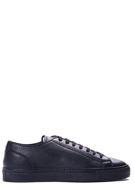 BLACK LEATHER SNEAKERS DUCA DI WELLS | Sneakers | NU2457ERICUZ109NN00NOVA NERO+F.DO NERO