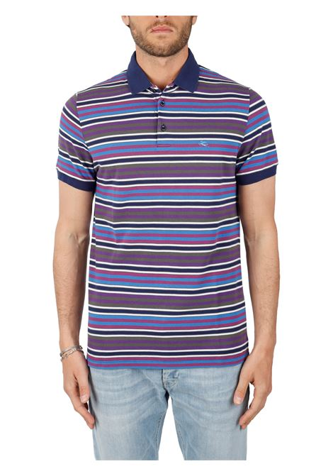 COTTON POLO WITH FRONT LOGO EMBROIDERY SLIM FIT ETRO | Polo shirt | 11518/9712200