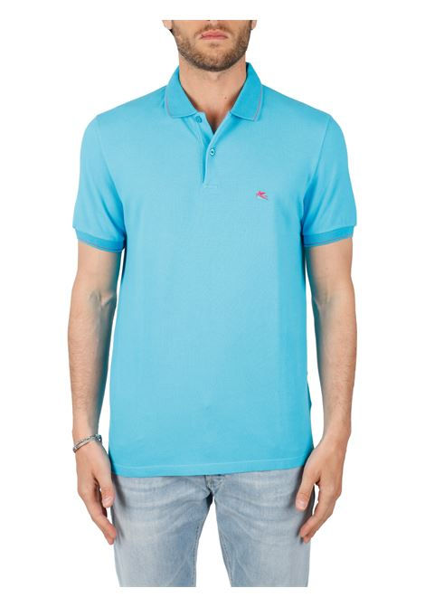 COTTON POLO WITH FRONT LOGO EMBROIDERY SLIM FIT ETRO | Polo shirt | 14330/9110252