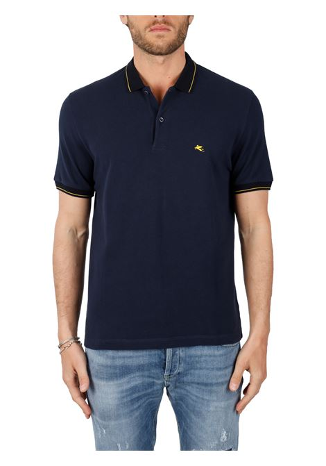COTTON POLO WITH FRONT LOGO EMBROIDERY SLIM FIT ETRO | Polo shirt | 14330/9725200