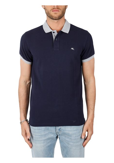 COTTON POLO WITH FRONT LOGO EMBROIDERY SLIM FIT ETRO | Polo shirt | 14455/9100200