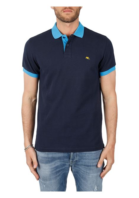 COTTON POLO WITH FRONT LOGO EMBROIDERY SLIM FIT ETRO | Polo shirt | 14455/9300200