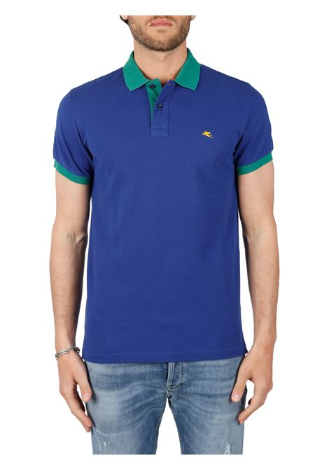 COTTON POLO WITH FRONT LOGO EMBROIDERY SLIM FIT ETRO | Polo shirt | 14455/9300201