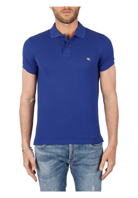 COTTON POLO WITH FRONT LOGO EMBROIDERY SLIM FIT ETRO | Polo shirt | 1Y040/9300200