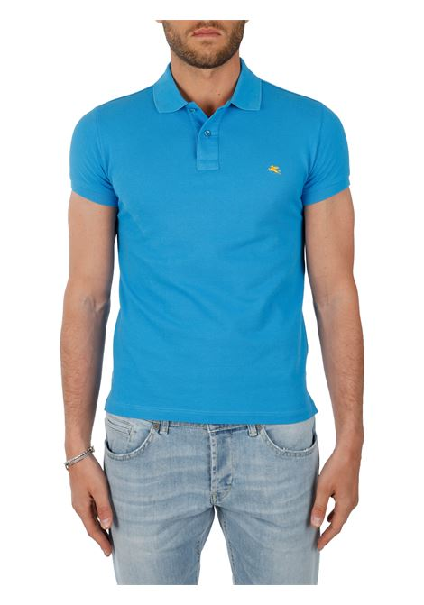COTTON POLO WITH FRONT LOGO EMBROIDERY SLIM FIT ETRO | Polo shirt | 1Y040/9300252