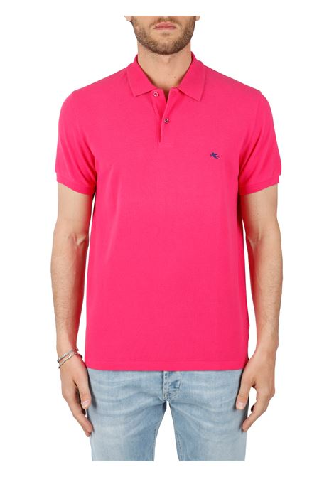 COTTON POLO WITH FRONT LOGO EMBROIDERY SLIM FIT ETRO | Polo shirt | 1Y060/9140650
