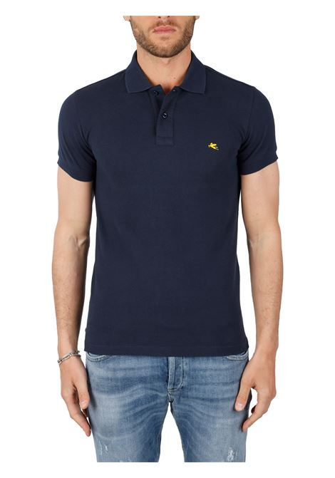 COTTON POLO WITH FRONT LOGO EMBROIDERY SLIM FIT ETRO | Polo shirt | 1Y400/9300200