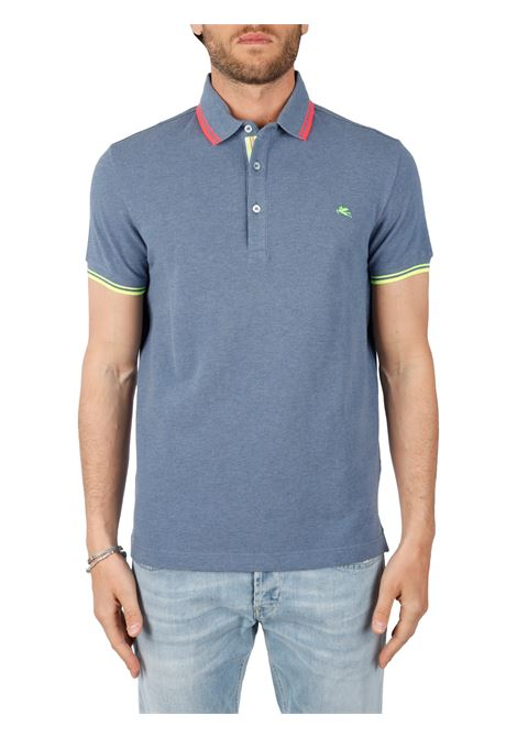 COTTON POLO WITH FRONT LOGO EMBROIDERY SLIM FIT ETRO | Polo shirt | 1Y400/9300201
