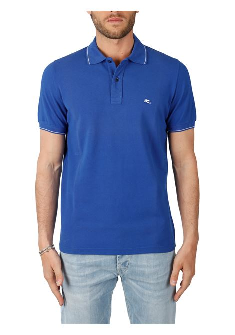 COTTON POLO WITH FRONT LOGO EMBROIDERY SLIM FIT ETRO | Polo shirt | 1Y420/9309201