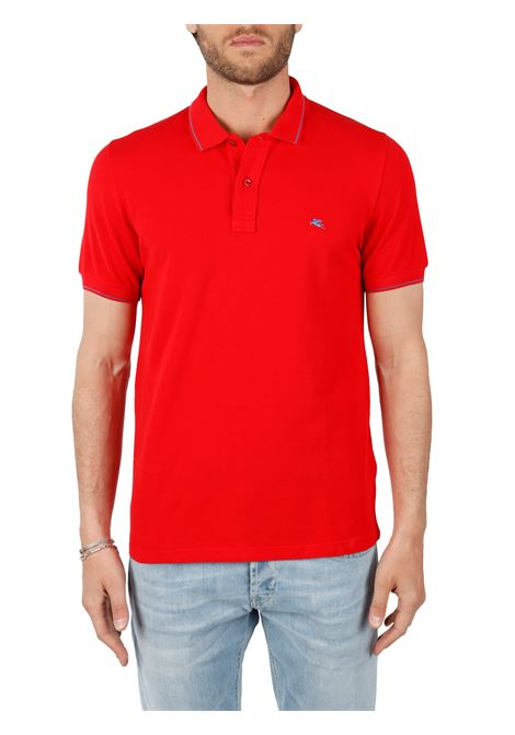 COTTON POLO WITH FRONT LOGO EMBROIDERY SLIM FIT ETRO | Polo shirt | 1Y420/9309602