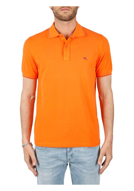 COTTON POLO WITH FRONT LOGO EMBROIDERY SLIM FIT ETRO | Polo shirt | 1Y420/9309752