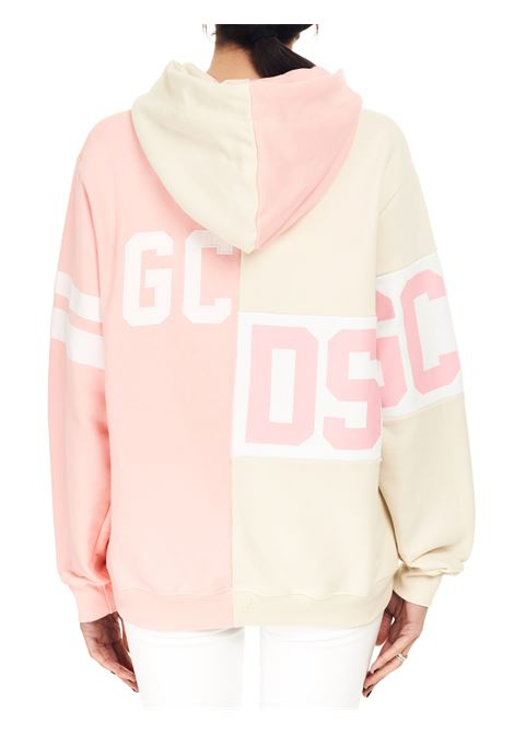TWO-TONE SWEATSHIRT WITH DESTRUCTURED LOGO GCDS | Sweatshirts | CC94M02102506