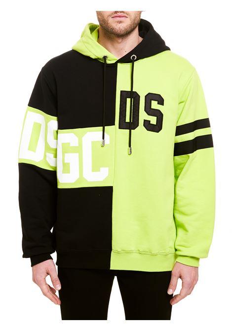 TWO TONE SWEATSHIRT WITH DESTRUCTURED LOGO GCDS | Sweatshirts | CC94M02102551