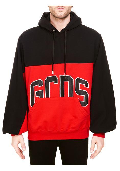 TWO-TONE COTTON SWEATSHIRT WITH LOGO APPLICATION GCDS | Sweatshirts | CC94M02103203