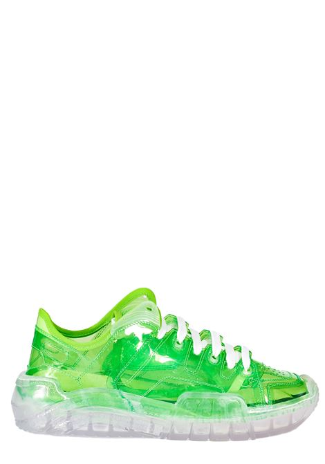 GREEN TRANSPARENT LIME MODEL SNEAKERS GCDS | Sneakers | SS21M01000351