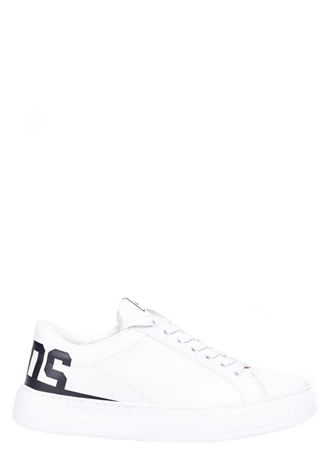 WHITE SNEAKERS WITH LOGO PRINT GCDS | Sneakers | SS21M010038D02
