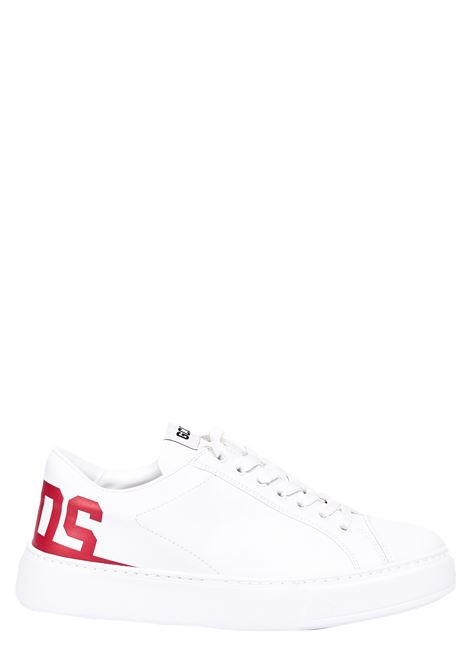 WHITE SNEAKERS WITH LOGO PRINT GCDS | Sneakers | SS21M010038D03