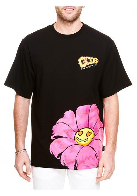 T-SHIRT NERA IN COTONE CON LOGO GCDS | T-shirt | SS21M02006902