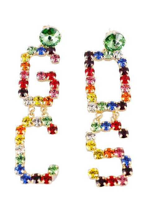 ORECCHINI STRASS MULTICOLOR GCDS | Orecchini | SS21W010061MX