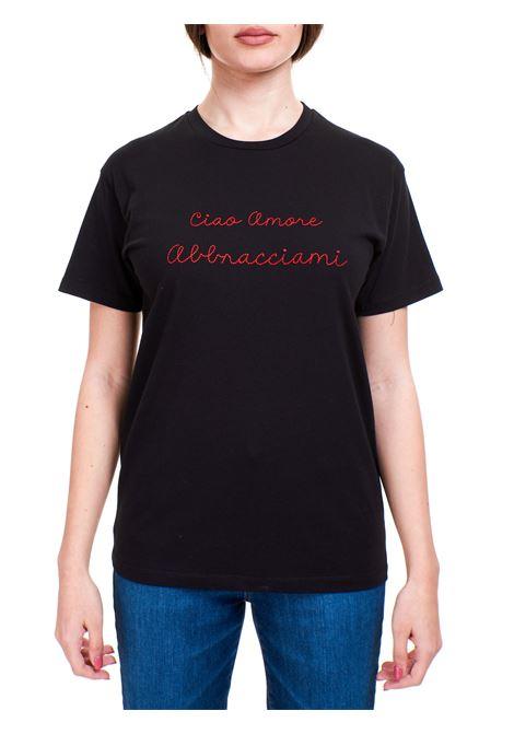 BLACK T-SHIRT WITH EMBRACE ME EMBROIDERY GIADA BENINCASA |  | S1818TT2