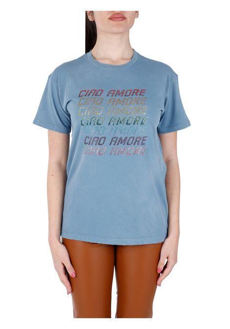 T-SHIRT CON APPLICAZIONE CIAO AMORE IN COTONE GIADA BENINCASA | T-shirt | S1821TDTD3