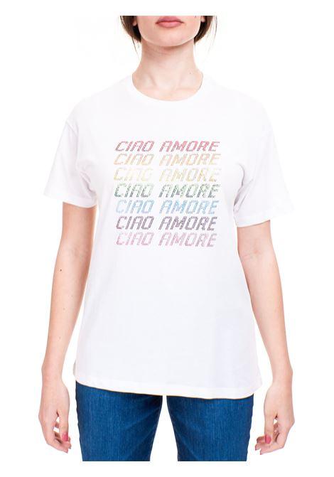 WHITE CIAO AMORE T-SHIRT IN COTTON GIADA BENINCASA |  | S1825TT1
