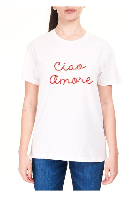 T-SHIRT BIANCA CIAO AMORE IN COTONE GIADA BENINCASA | T-shirt | S1831TRTR2