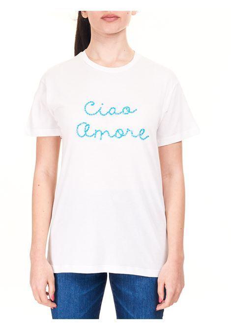 T-SHIRT BIANCA CIAO AMORE IN COTONE GIADA BENINCASA | T-shirt | S1831TRTR5