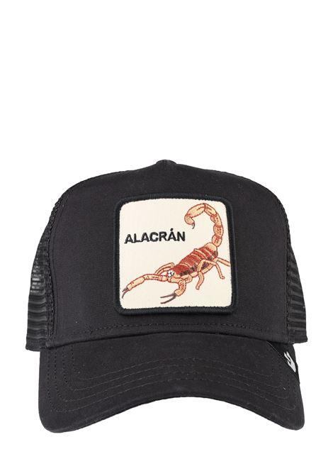 ALACRAN BLACK VISOR HAT GOORIN BROS | Hair | SCORPIONE1010814NERO