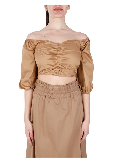 CROP TOP WITH BOAT NECK  KAOS | Top | NP1MR0336000