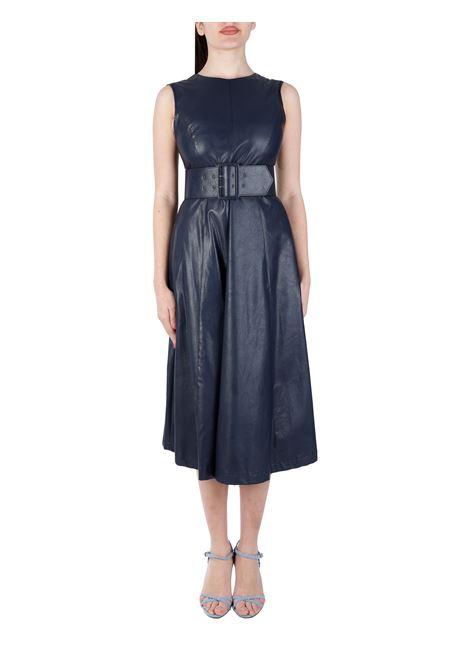 BLUE DRESS WITH WAIST BELT KAOS |  | NP1TZ0023015