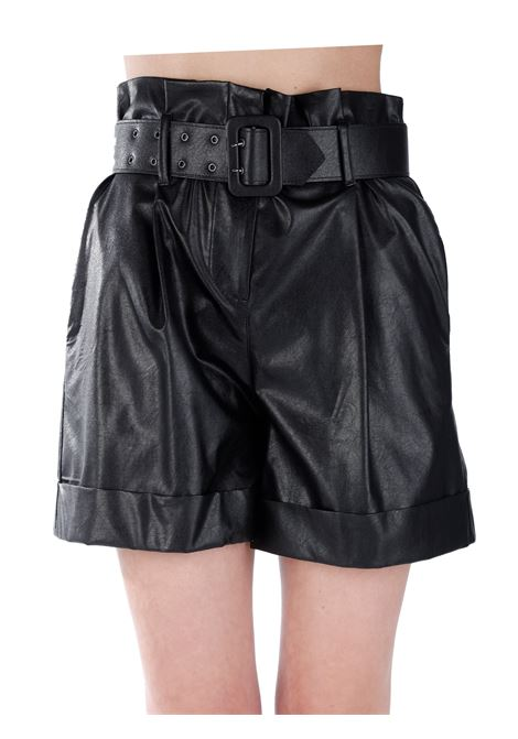 SHORTS IN FAUX LEATHER WITH BELT KAOS | Shorts | NP1TZ0070001