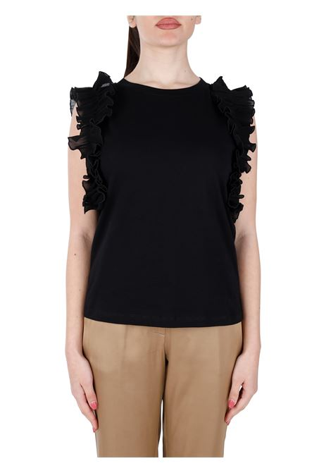 T-SHIRT CON ROUCHES IN COTONE KAOS | T-shirt | NPJBR0050001