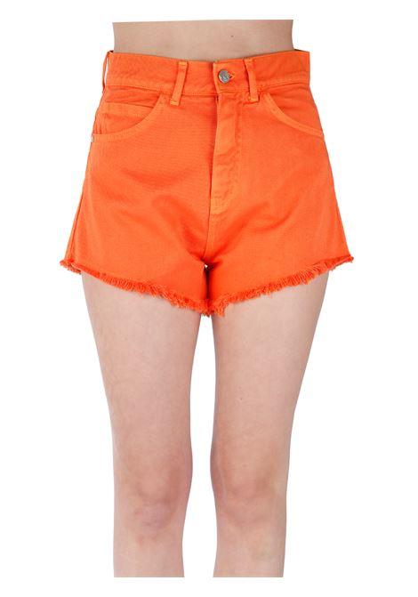 ORANGE COTTON SHORTS KAOS | Shorts | NPJGZ0017010