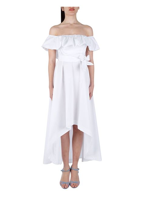 FLARED COTTON BLEND DRESS WITH BOW KAOS | Clothes | NPJMR0021019
