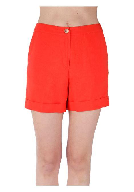ORANGE SHORTS IN LINEN BLEND KAOS | Shorts | NPJMR0247001