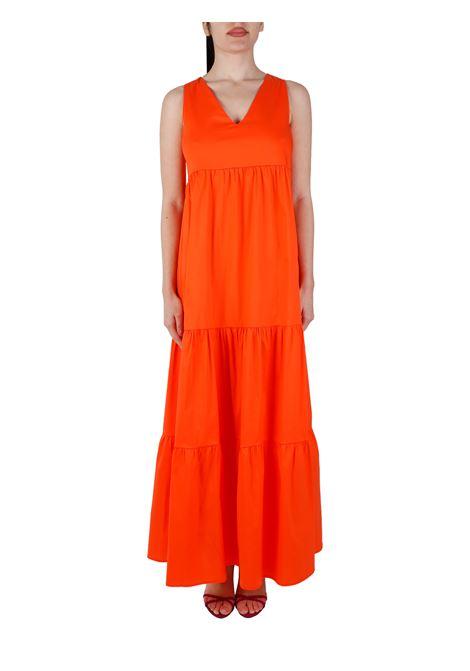 ORANGE COTTON BLEND DRESS KAOS |  | NPJTZ0207010