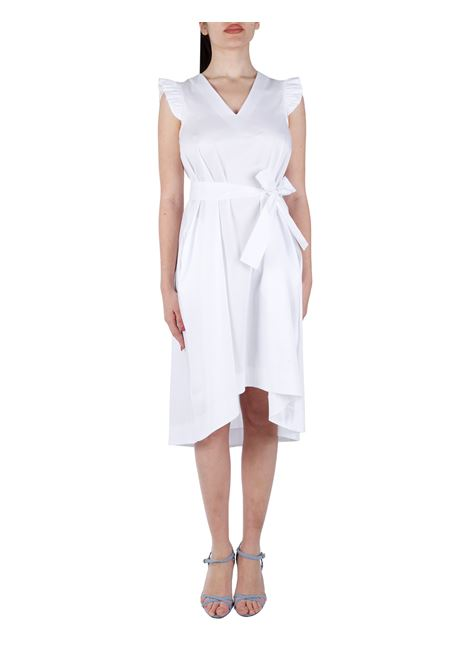 COTTON BLEND DRESS WITH SASH KAOS | Clothes | NPJTZ0681019