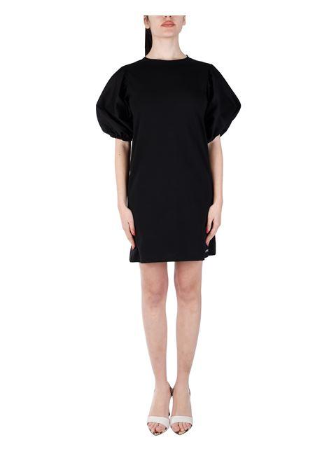BLACK MINI DRESS IN COTTON KAOS | Clothes | NPSBR0350001