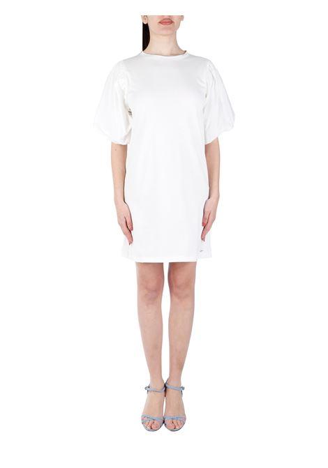 WHITE MINI DRESS IN COTTON KAOS | Clothes | NPSBR0351065